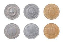 Oude muntstukken aan Joegoslavië stock afbeelding