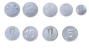 Oude muntstukken aan Oost-Duitsland, Ddr Stock Foto