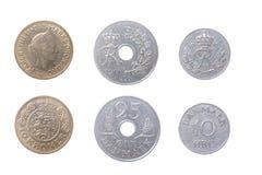 Oude muntstukken Danmark stock foto's