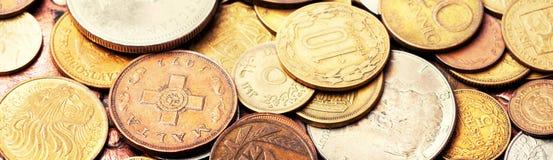 Oude muntstukken, numismatiek stock foto