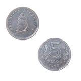 Oude muntstukken van Argentinië royalty-vrije stock afbeeldingen
