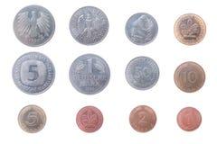 Oude muntstukken van Duitsland royalty-vrije stock afbeeldingen