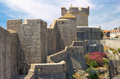 Oude muren van Dubrovnik Stock Afbeelding