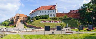 Oude muren van Grudziadz, Polen stock fotografie