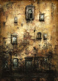 Oude Muur; vector illustratie