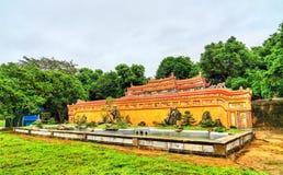 Oude muur bij de Keizerstad in Tint, Vietnam stock fotografie