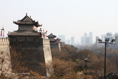 Oude muur in China Royalty-vrije Stock Fotografie
