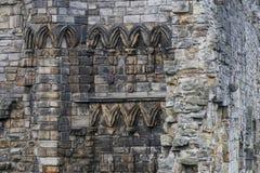 Oude muur in de Ruïnes van St Andrews Cathedral, Schotland royalty-vrije stock foto's