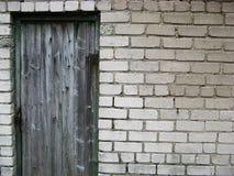Oude muur en deuren royalty-vrije stock afbeelding