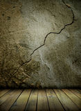 Oude muur en vloer stock illustratie