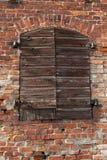 Oude muur met gesloten deur royalty-vrije stock foto's
