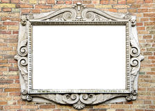 Oude muur met uitstekend frame voor tekst Stock Foto's