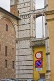 Oude muur in siena Stock Foto