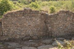 Oude muur van bakstenen Stock Foto