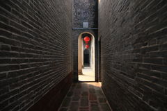 Oude muur van Chinese tempel stock fotografie
