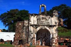 Oude Muur van het Fort van A Famosa Royalty-vrije Stock Afbeeldingen