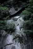 Oude muur van steen in Japan royalty-vrije stock afbeelding