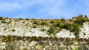 oude muur van versterkte stad van Boulogne-sur-Mer Stock Afbeelding