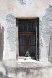 Oude muur, venster royalty-vrije stock foto