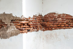 Oude muurachtergrond, textuur Stock Afbeeldingen