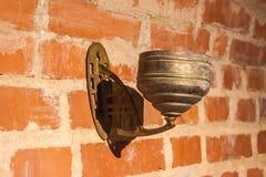 Oude muurlantaarn Royalty-vrije Stock Foto's