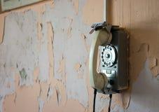 Oude muurtelefoon Royalty-vrije Stock Fotografie