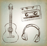 Oude muziek Royalty-vrije Stock Foto