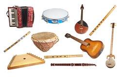 Oude muzikale instrumenten Royalty-vrije Stock Afbeeldingen
