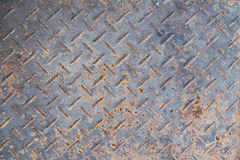 Oude Naadloze de plaattextuur van de staaldiamant, zwart-witte roestig Royalty-vrije Stock Fotografie