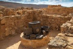Oude Nabatean-Stad van Mamshit Royalty-vrije Stock Afbeelding