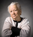 Oude nadenkende vrouw Royalty-vrije Stock Afbeelding