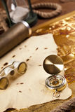 Oude navigatieapparatuur close-up Royalty-vrije Stock Foto's