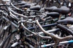 Oude Nederlandse fietsen Stock Fotografie
