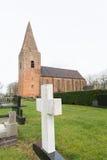 Oude Nederlandse kerk Stock Afbeeldingen