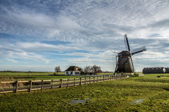 Oude Nederlandse Windmolen royalty-vrije stock foto's