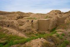 Oude Nisa, Turkmenistan Royalty-vrije Stock Foto's