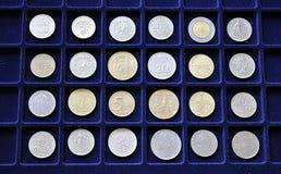 Oude numismatische muntstukken royalty-vrije stock fotografie