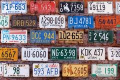 Oude nummerplaten Stock Foto's