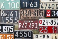 Oude Nummerplaten Stock Afbeeldingen
