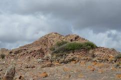 Oude Nuraghe van Seruci, Sardinige stock afbeelding