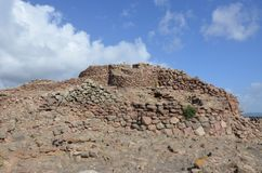 Oude Nuraghe van Seruci, Sardinige stock afbeeldingen