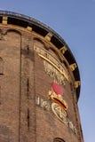 Oude obervatory in Kopenhagen met de kroon van Christen IV Stock Foto