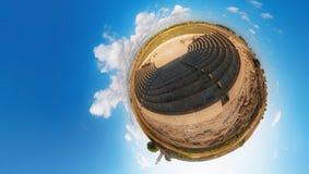 Oude Odeon Paphos cyprus Weinig planeet Royalty-vrije Stock Fotografie