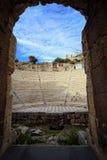 Oude Odeon van Herod, Athene, Griekenland Stock Foto's