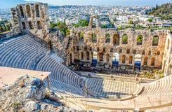 Oude Odeon van Herodes Atticus in Athene, Griekenland royalty-vrije stock foto