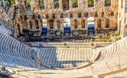 Oude Odeon van Herodes Atticus in Athene, Griekenland royalty-vrije stock fotografie
