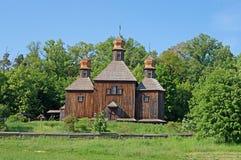 Oude Oekraïense kerk, Pirogovo, de Oekraïne royalty-vrije stock afbeelding
