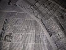 Oude Oekraïense kranten stock foto's