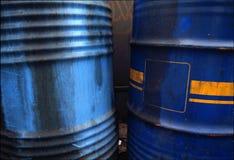 Oude olietrommel Stock Foto