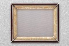 Oude omlijsting op de muur Royalty-vrije Stock Foto